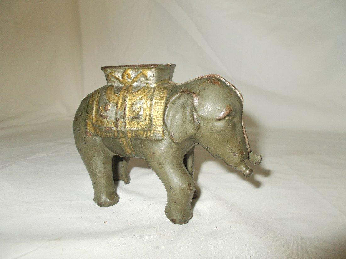 Cast Iron Elephant Penny Bank