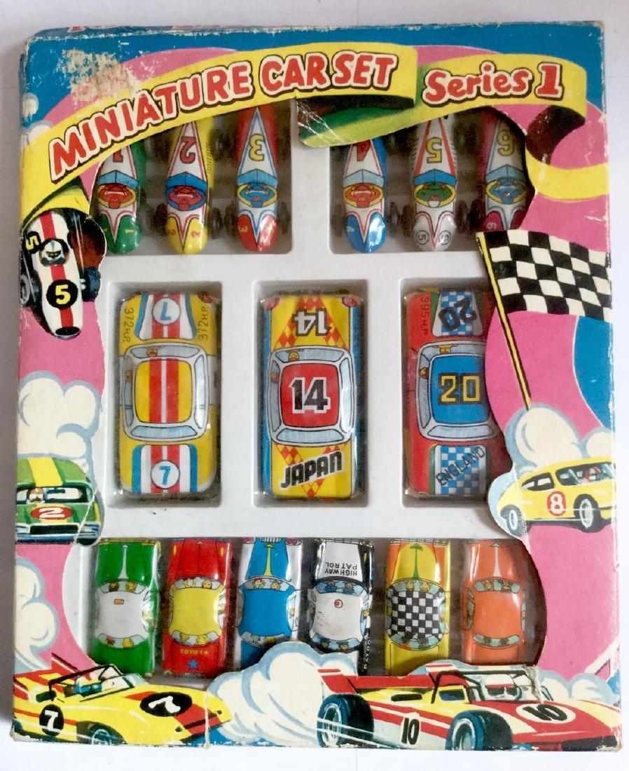 Tin Toy Cars - Miniature Car Set - Series 1, 1960's