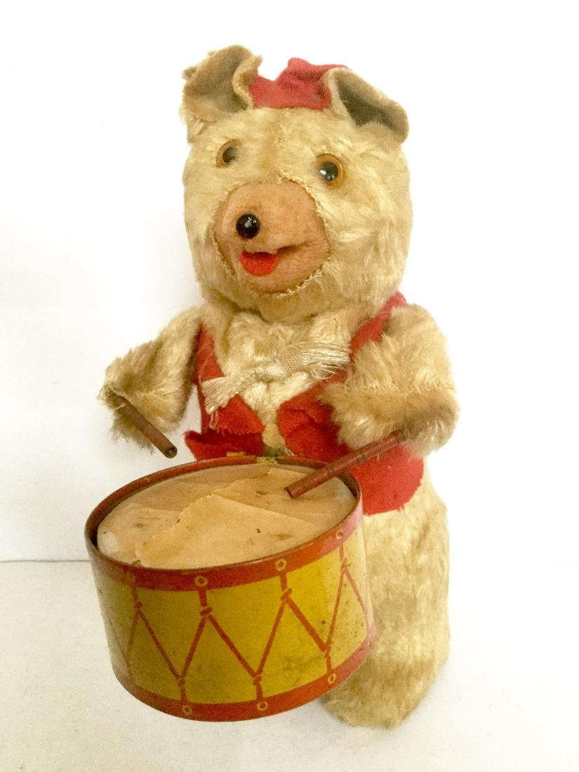 Drummer Bear Wind Up Toy
