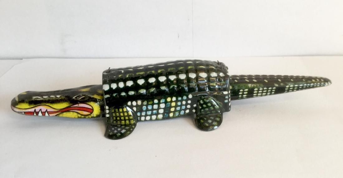 Tin Alligator Nodder Toy, 1950's