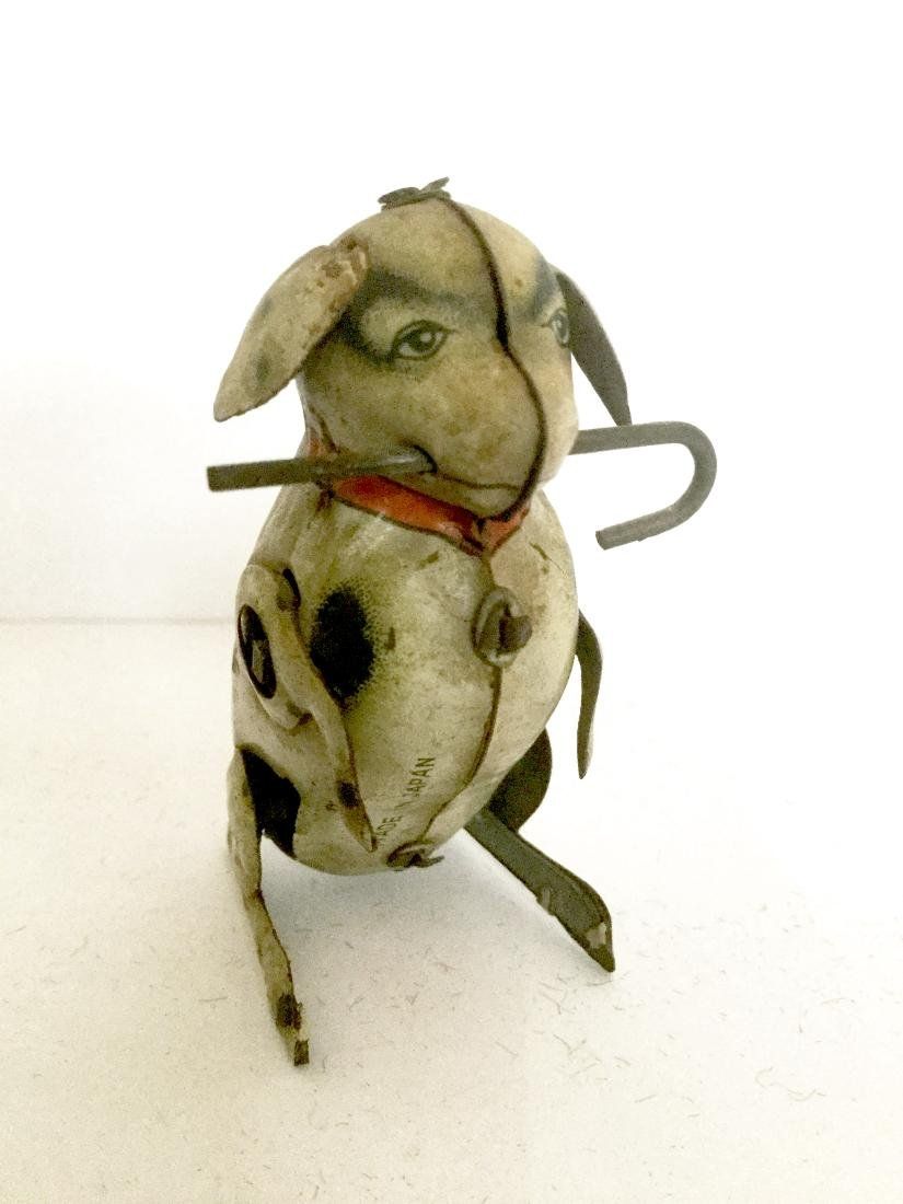 Dog with Cane Wind Up Toy