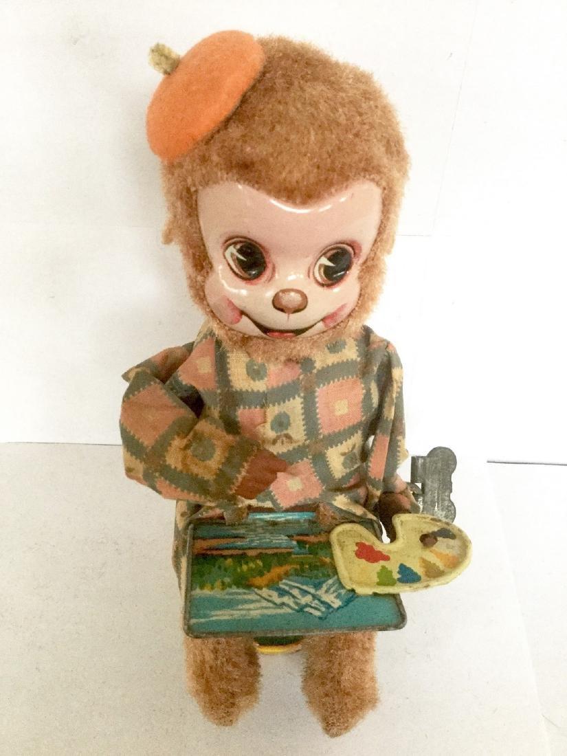 Artist Monkey Wind Up Toy