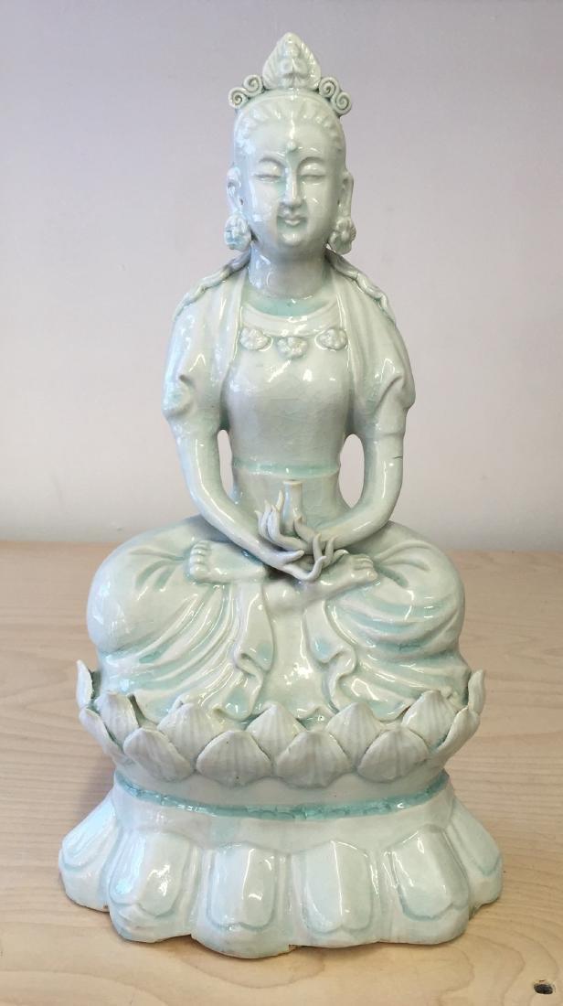 Chinese Yingqing Glaze Buddha, Qing Period or Earlier