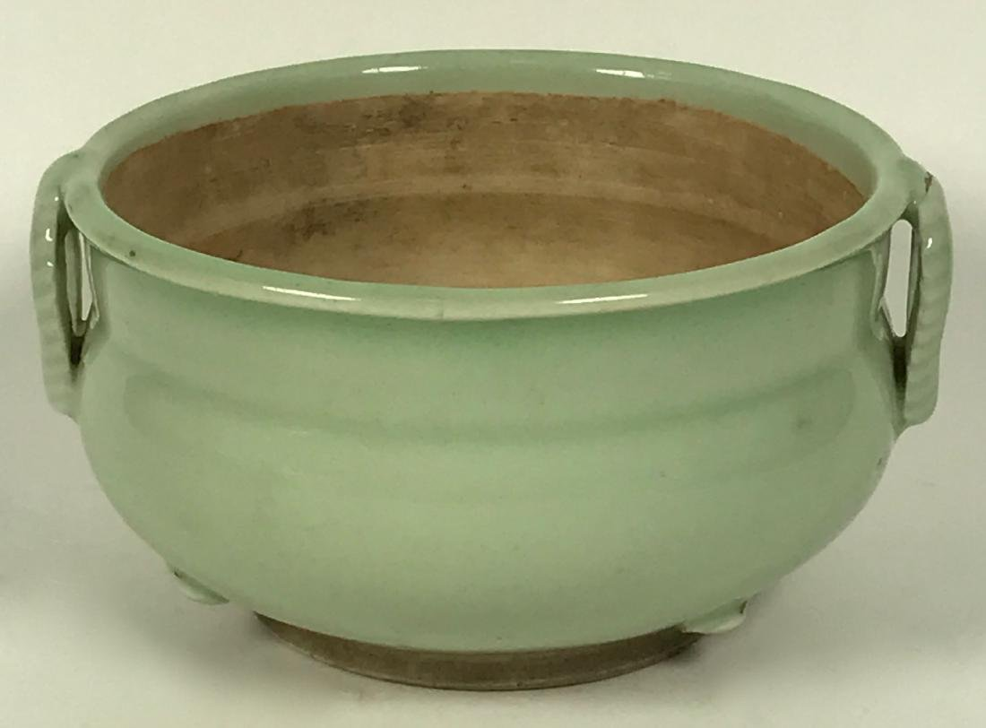 Chinese Qing Porcelain Celadon Incense Burner, 19th C