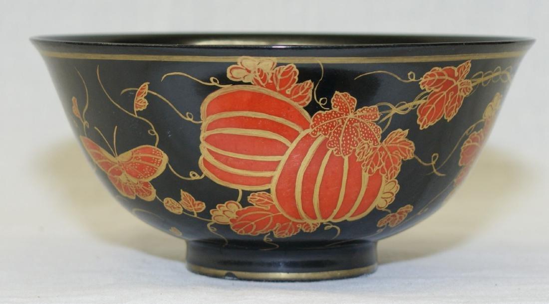 Chinese Black Glaze Bowl, Qing Qianlong Mark