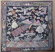 Chinese Qing Textile 3rd Rank Badge Mandarin Square