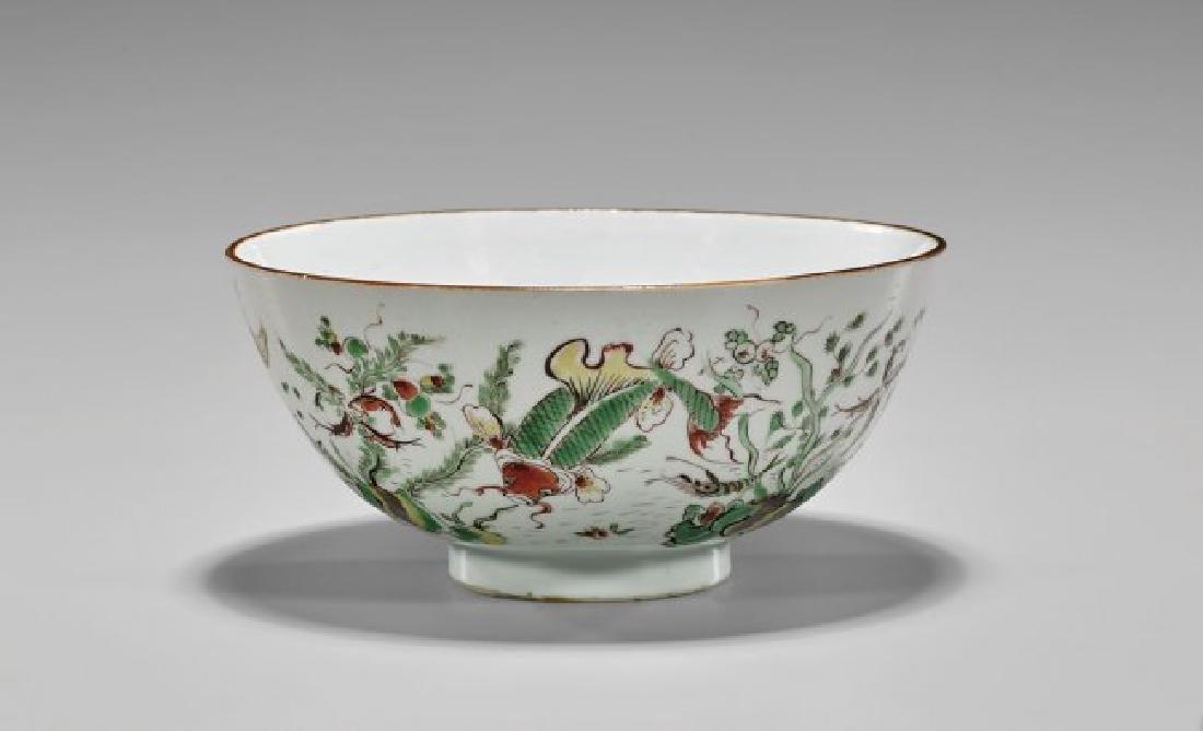 Chinese 17th Century Enameled Porcelain Bowl