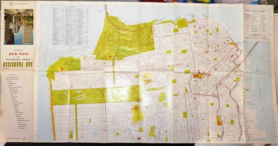 San Francisco Street Map, 1978