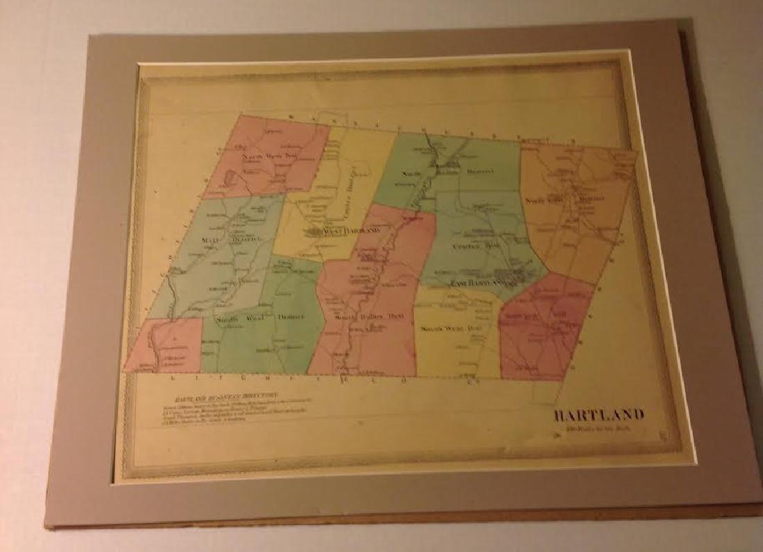 Hartland, Massachusetts Scaled Map, Litchfield Co, 1869