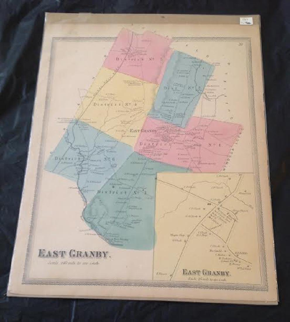 East Granby, CT Scaled Map, 1869