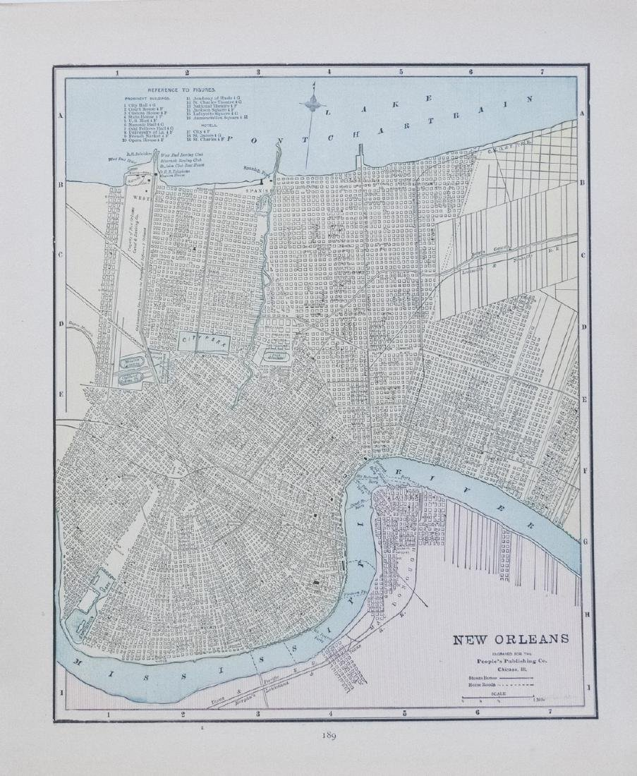 Cram: Map of New Orleans verso San Francisco, 1889
