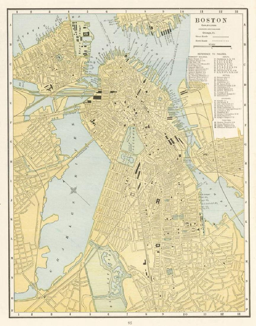 Cram: Map of Boston, 1889
