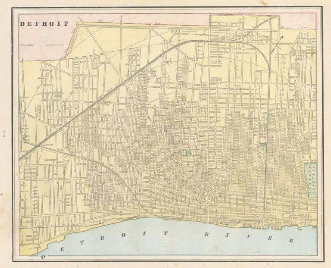 Cram: Map of Detroit, 1889