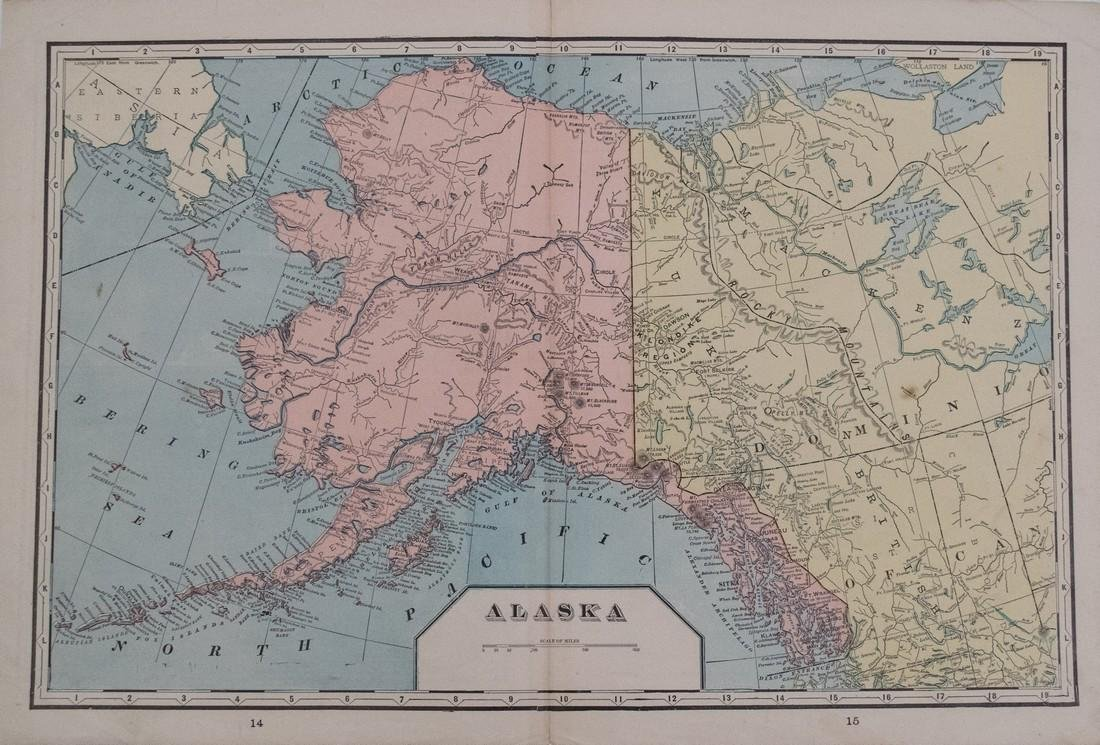 Cram: Map of Alaska verso W Hemisphere, 1901