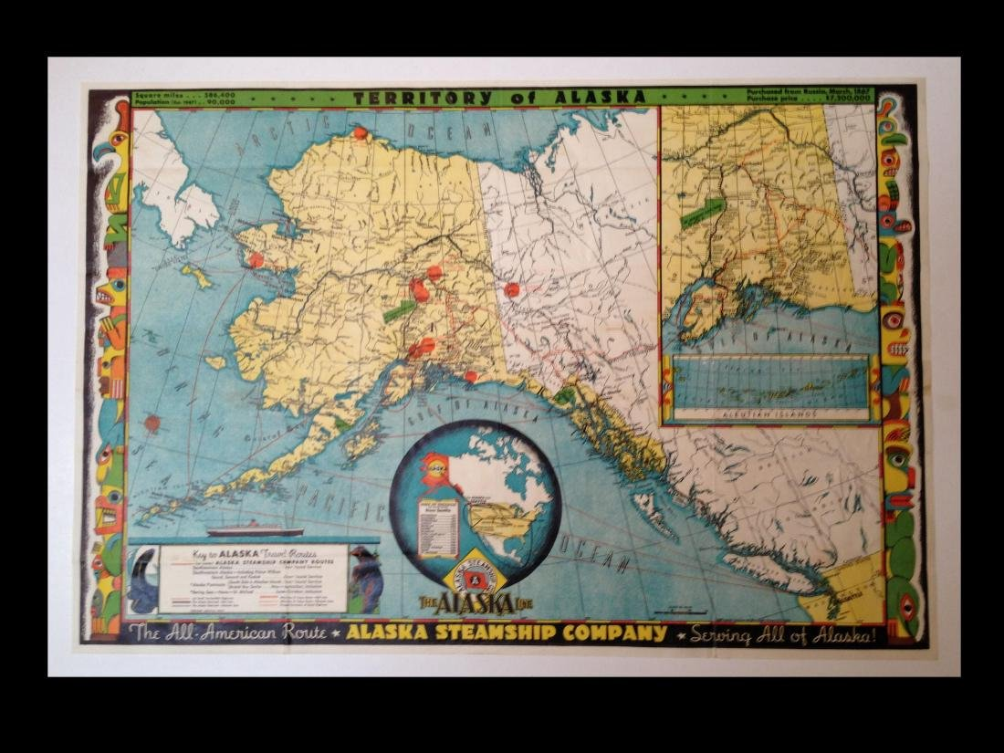 Frank McCafrey: Map of Alaska, 1949