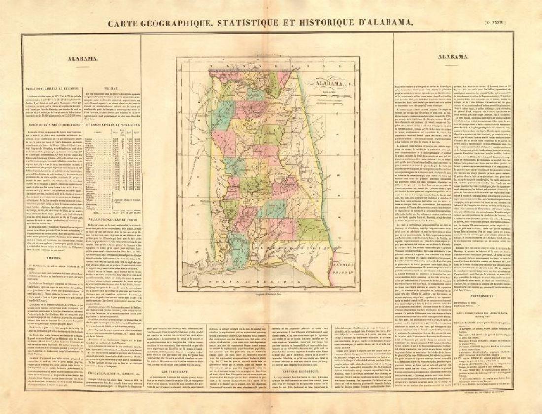 Buchon: Alabama Antique State Map, 1825