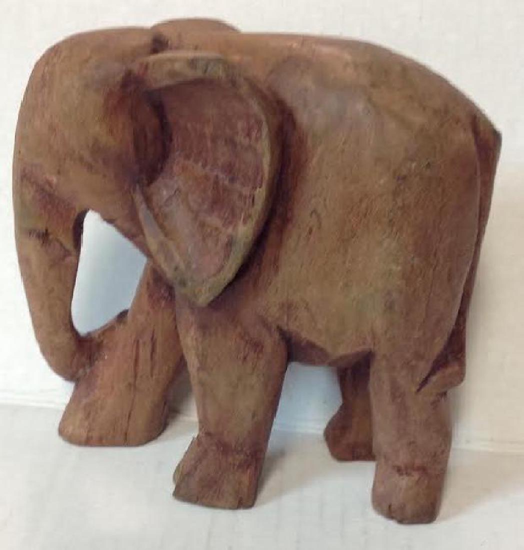 "South African Elephant ""Iroko"" Wood Figurine"