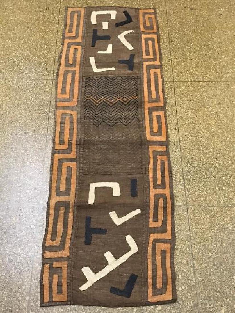 African Art Kuba Raffia Cloth from D.R. of Congo