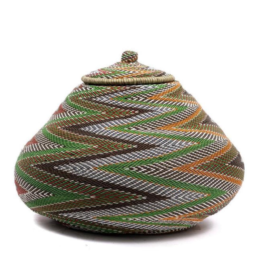 Zulu Telephone Wire Basket, South Africa