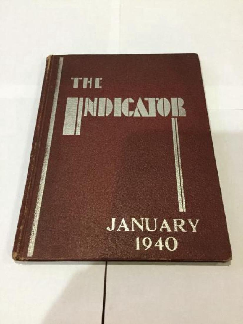 The Indicator, 1940 High School Year Book Signed