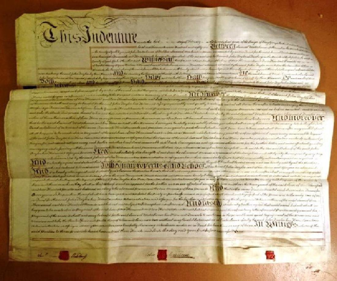 1781 Large English Vellum Indenture
