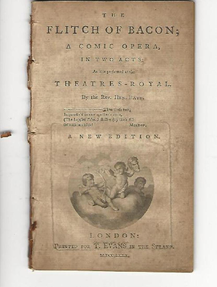 1780 The Flitch Of Bacon A Comic Opera