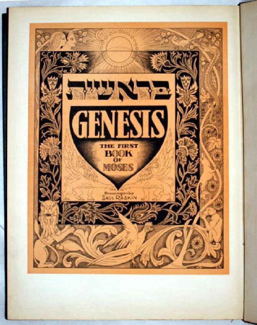 Genesis The First Book Of Moses Saul Raskin 1944