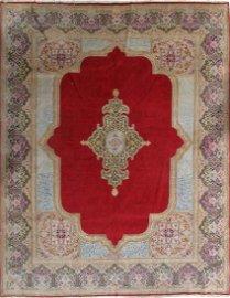 Semi Antique Persian Kerman Rug 9.3 x 12.2