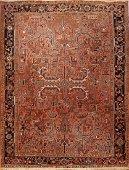 Antique Fine Persian Heriz Rug 8.4 x 10.010