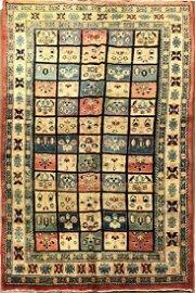 Antique Persian Bakhtiyari Rug 4.1x9.9