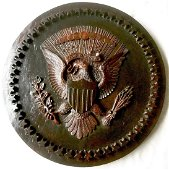 The Great Seal of America Carved Plaque, Fifty Stars
