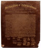 Antique Thermoplastic Declaration Of Independence