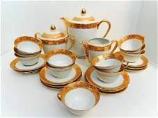 Limoges Porcelain Gold Coffee Service
