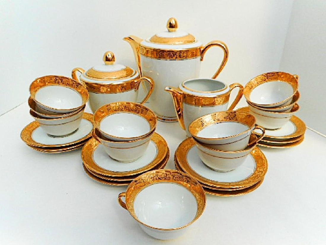 Limoges Porcelain Gold Coffee Service