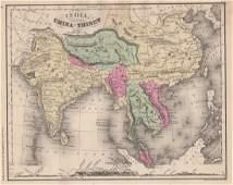 McNally: Map of India, China and Tibet, 1875