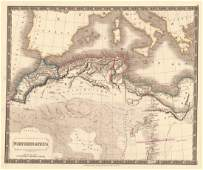 Sidney Hall: Map of Northern Africa 1830