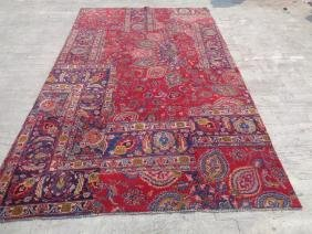 Semi Antique Hand Knotted Wool Persian Rug 9.8x6