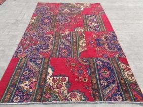 Semi Antique Hand Knotted Wool Persian Rug 9.4x6.2