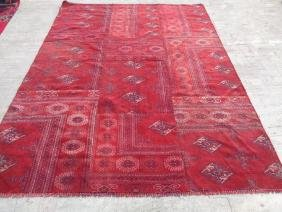 Semi Antique Hand Knotted Wool Persian Rug 8.10x6.6