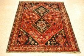 Persian Hand Woven Shiraz Qashkai Rug 3.10x5.6