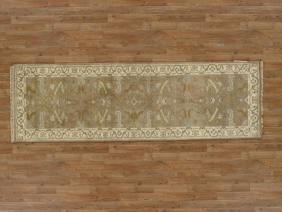 Elegant Handmade Oushak Runner Rug 3x8