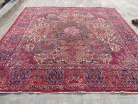 Semi Antique Wool Persian Square Bakhtiar Rug 9.9x9.5