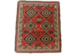Antique Shirvan Wool Rug 1.6x1.9 C1920