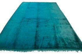 Vintage Wool Oushak Rug 8.8x10.6 C1960