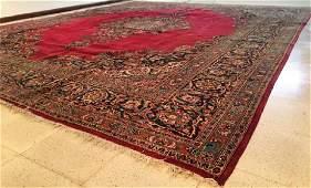 Persian Kashan Oriental Wool Rug 11x14
