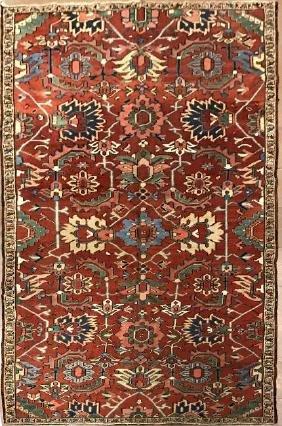 Antique Persian Heriz Rug 6.7x10.7
