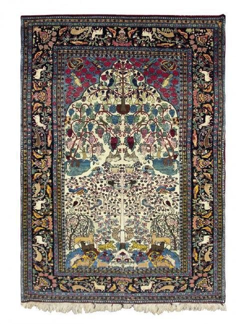 Antique 19th Century Persian Isfahan Rug 4.5x6.10