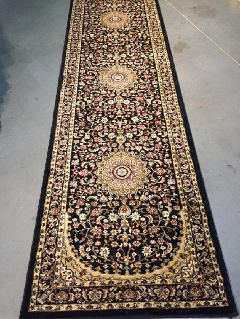 Persian Isfahan Design Runner Rug 2.7x12.0