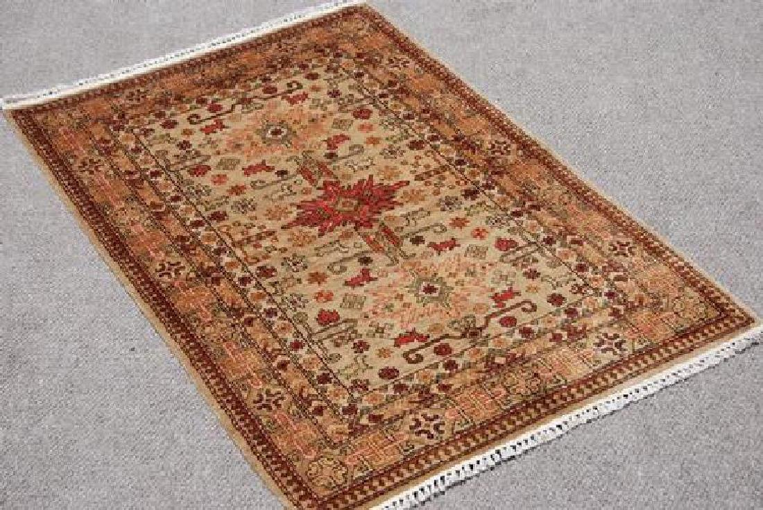 Turkish Khotan Design Wool Rug 4x5.9