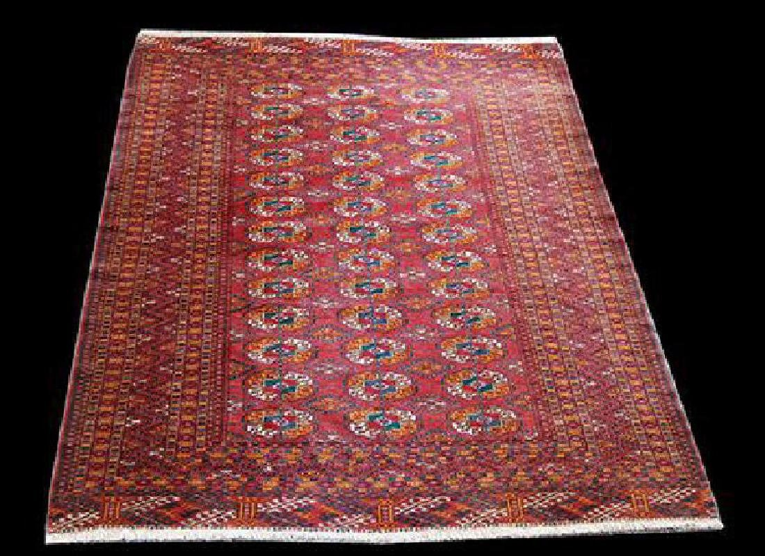 Persian Turkman Fine Knotted Wool Rug 4.5x5.11